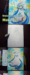 Monster musume online: Miti drawing progress by 1elda1
