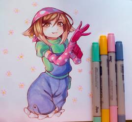 Mori Satomi copic sketch by 1elda1