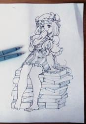Patchouli sketch by 1elda1