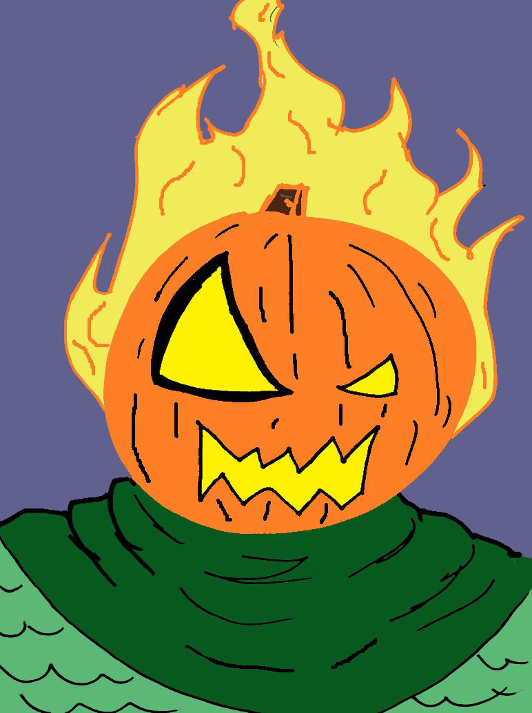 Jack O'Lantern (Colored) by Derfs-Domain