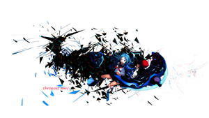 wallpaper abstract anime by cloud1403