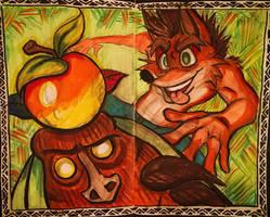 Crash Bandicoot by shnowlan