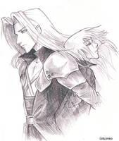Sephiroth and Kadaj by GilJimbo