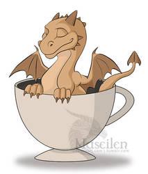 Sweet cappuccino dragon by Naseilen