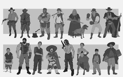 western characters by ongblack
