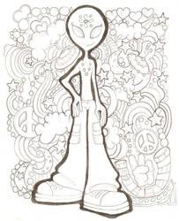 Alien Teen Dreams Doodle Lines by kameryn
