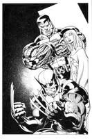 X-Men Pin-up by Jaxink1
