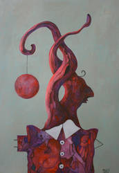 Tangled thoughts  100x70 canva,acryl by broda502