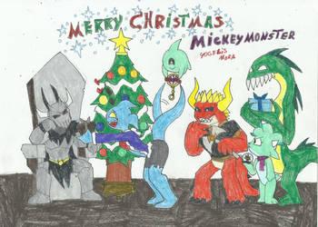 merry christmas mickeymonster by yogelis