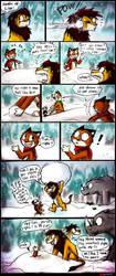 [ANKComic] Snowball Fight by catkitte