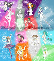 Galilean Knights Henshin Poses by Blue-and-Dog