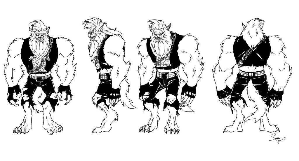 Werewolf ROCKABILLY Inks by sergioriosart