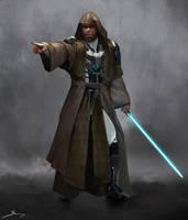 Jedi Master Male - Concept Design by Ron-faure