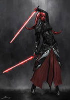 Twi'lek Sith Knight Female - Concept Design by Ron-faure
