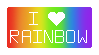 I Love Rainbow Stamp! by Dragonslayer999