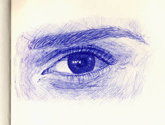 Emma Watson eye sketch for che-rrry by Dragonslayer999