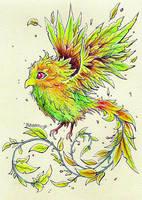 Forest phoenix by Kokorvesa