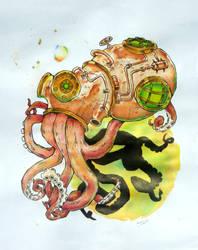 Steampunksquidoctopuslulz by Kokorvesa