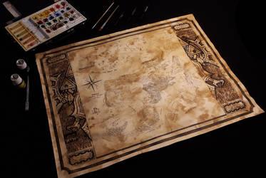Hyrule map by Kokorvesa