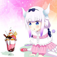 Kanna and ice cream by yunyunmaru