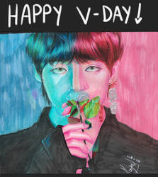 Happy V-Day, Taehyung by disfuccionalmayu