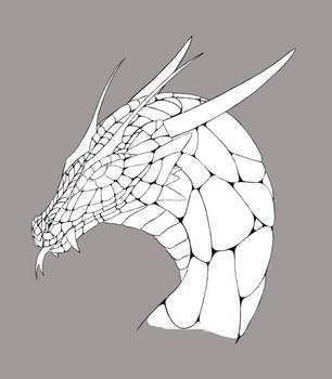Dragon head Lineart by DivianaAjatar