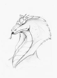 Naga Head - Skribble by DivianaAjatar