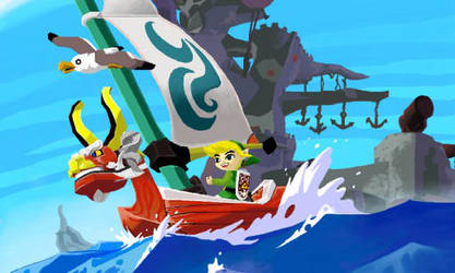 3DS painting: The Wind Waker by Alyboxie