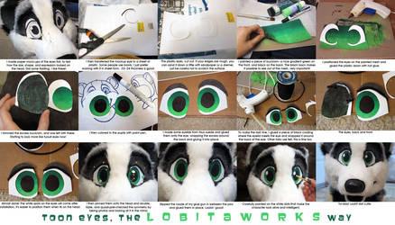 Fursuit Eyes Tutorial by LobitaWorks