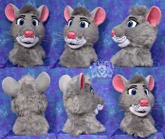 Eve the Rat fursuit head by LobitaWorks