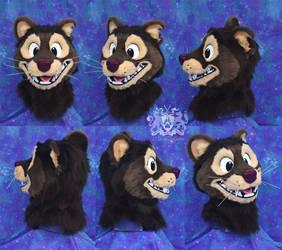 Fisher Kat Fursuit Head by LobitaWorks