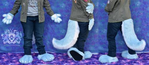 Blue Wolf Hand/Feet/Tail Set by LobitaWorks