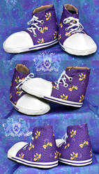 Candycorn Bats Fursuit Sneakers Available to Order by LobitaWorks