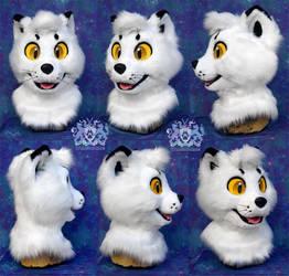 Mallow the Arctic Fox Fursuit Head by LobitaWorks
