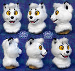 Mallow the Arctic Fox Fursuit Head by LobitaWorks