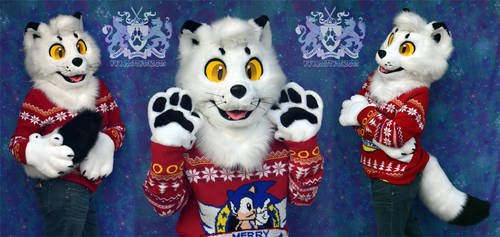 Mallow the Arctic Fox Partial Fursuit FOR SALE by LobitaWorks