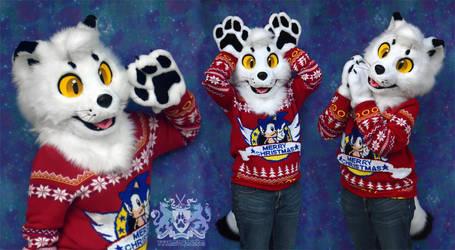 Mallow the Arctic Fox Partial Fursuit FOR SALE 2 by LobitaWorks