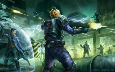 Shadowrun mod art by blewzen