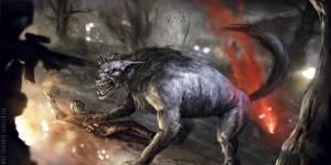 Wolf hunt by blewzen