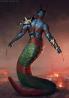 Serpentman by blewzen