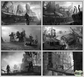 Wreck age and ShangriLA pieces selection 1 by blewzen