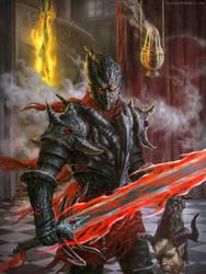 Dark Crimson Knight by blewzen