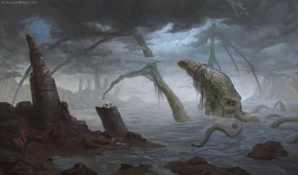 Cthulhu Rises by blewzen