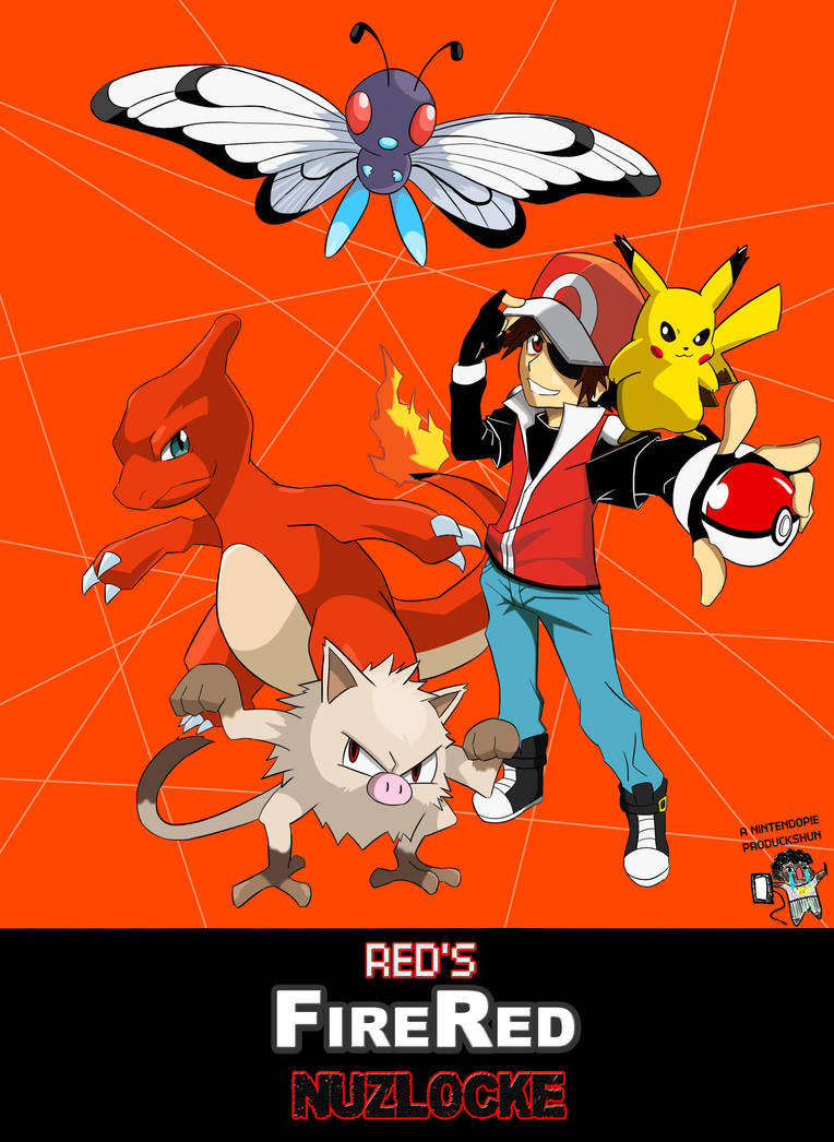 Fire Red Nuzlocke Cover by NintendoPie