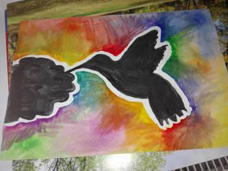 Black bird silhouette by LeahL96