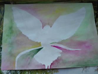 White bird silhouette by LeahL96