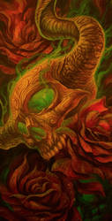 Skulls and Roses by Loren86