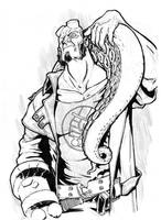 Hellboy and Mr. Tentacle by protozoario