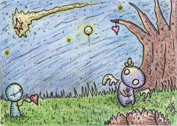 nini and the moon by joegogo