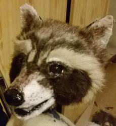 WIP Rocket Raccoon Head furried by Kreativjunkie